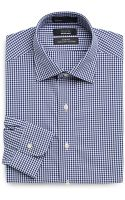 Saks Fifth Avenue Black Label Mini Gingham Cotton Dress Shirt Slim Fit - Lyst