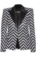 Balmain Knitted Woolblend Blazer - Lyst