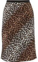 Elizabeth And James Adina Leopardprint Silk Skirt - Lyst