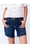Free People Bolen Long Cut Off Short - Lyst