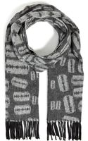 McQ by Alexander McQueen Cotton Printed Scarf - Lyst