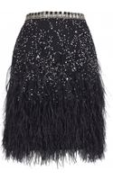 Matthew Williamson Lattice Feather Embroidered Skirt - Lyst