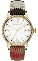 Burberry Swiss House Check Woven Strap Watch  - Lyst