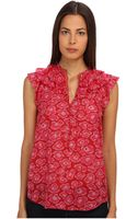 Marc By Marc Jacobs Cas Print Silk Cotton Top - Lyst
