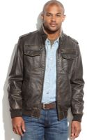 Tommy Hilfiger Big and Tall Faux Leather Fauxshearlinglined Military Jacket - Lyst
