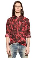 Diesel Raven Wing Printed Cotton Poplin Shirt - Lyst