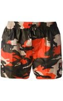 DSquared2 Printed Swim Shorts - Lyst