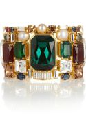 Emilio Pucci Goldplated Crystal and Faux Pearl Cuff - Lyst
