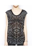 Sass & Bide Dead On Time Heavily Embellished Sleeveless Top - Lyst