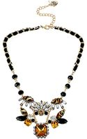 Betsey Johnson Mixed Crystal and Gemstone Cluster Frontal Necklace - Lyst