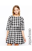 Asos Exclusive Smock Dress in Check - Lyst