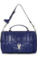 Proenza Schouler Cobalt Blue Leather Ps1 Medium Messenger Bag - Lyst