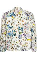 River Island Light Grey Poppy Print Cropped Jacket - Lyst