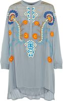 Vineet Bahl Embroidered Georgette Tunic - Lyst