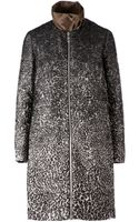 Moncler Gamme Rouge Contrast Collar Tailored Coat - Lyst