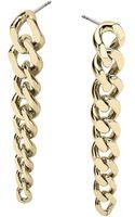 Michael Kors Goldtone Curb Chain Drop Earrings - Lyst