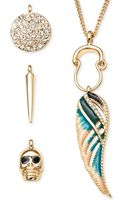 Rachel Rachel Roy Gold-tone Interchangeable Charm Pendant Necklace Set - Lyst