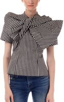 Marc By Marc Jacobs Yoko Gingham Bow Top - Lyst