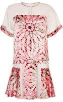 Philosophy di Alberta Ferretti Silk Print Dress - Lyst