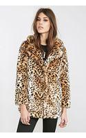 Forever 21 Leopard Faux Fur Coat - Lyst