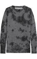 Raquel Allegra Distressed Merino Wool and Cashmereblend Sweater - Lyst