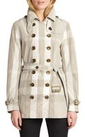 Burberry Brit Crombridge Check Trench Coat - Lyst