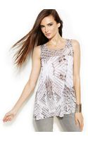 Inc International Concepts Illusion Printed Sleeveless Top - Lyst