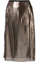 Lanvin Metallic Skirt - Lyst