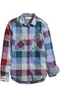 H&M Patterned Cotton Shirt - Lyst