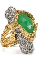 Alexis Bittar Crystalencrusted Twoheaded Lion Ring - Lyst