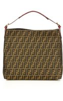 Fendi Large Zucca Canvas Hobo Bag - Lyst