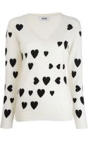 Moschino Cheap & Chic Vneck Sweater - Lyst