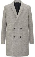 Jil Sander Double-breasted Herringbone Coat - Lyst