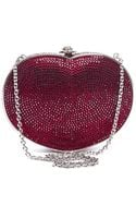 Judith Leiber Red Heart Crystal Clutch - Lyst