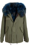 Mr & Mrs Furs Fur Lined Parka Jacket - Lyst