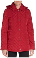 Calvin Klein Quilted Hooded Jacket - Lyst