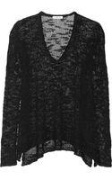 Helmut Lang Openknit Silk Sweater - Lyst