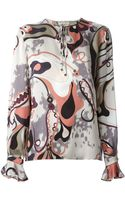 Emilio Pucci Abstract Print Blouse - Lyst