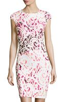 McQ by Alexander McQueen Scrollprint Fitted Ponte Dress - Lyst