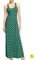 Banana Republic Factory Empire Maxi Dress Cool Combo - Lyst
