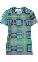 Prabal Gurung Plaid-print Jersey T-shirt - Lyst