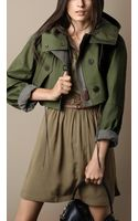 Burberry Cropped Bonded Cotton Parka - Lyst