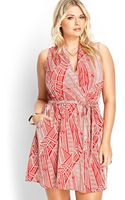 Forever 21 Abstract Cutout Surplice Dress - Lyst