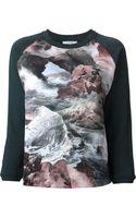 Carven Satin Print Sweatshirt - Lyst