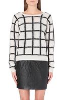Designers Remix Checked Knitted Jumper Cream - Lyst