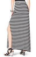 Michael by Michael Kors Striped Slit Maxi Skirt - Lyst