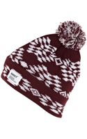 River Island Dark Red Addict Fair Isle Beanie Hat - Lyst