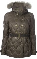 Burberry Brit Padded Hooded Jacket - Lyst