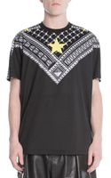 Givenchy Yellow Star Keffiehprint Jersey Tee - Lyst