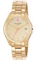 Kate Spade New York Womens Seaport Grand Goldtone Bracelet Watch 38mm - Lyst